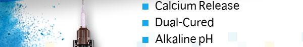 Calcium Release Dual-Cured Alkaline pH