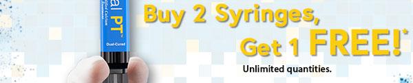 Buy 2 Syringes, Get 1 FREE!