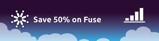Fuse 50% off Hero